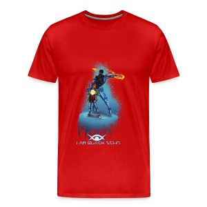 I AM BLACK SCI-FI : Eclipx Short Sleeve - Men's Premium T-Shirt