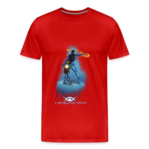 I AM BLACK SCI-FI : Eclipx Short Sleeve - Men's Premium T-Shirt