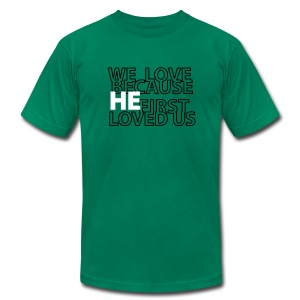 He loves - Men's T-Shirt by American Apparel