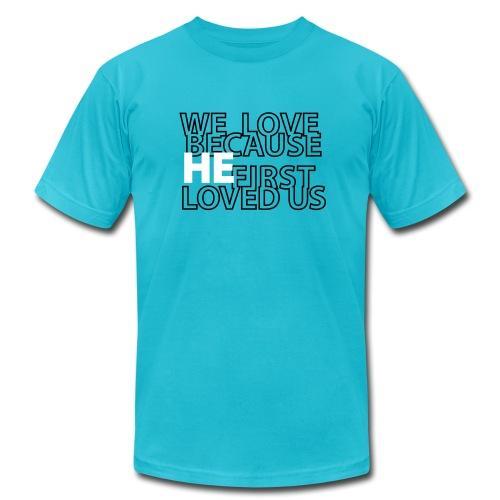 He loves - Men's  Jersey T-Shirt