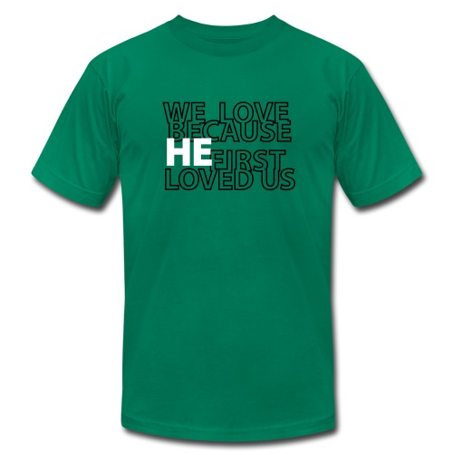 He loves - Men's Fine Jersey T-Shirt