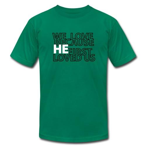 He loves - Men's Fine Jersey T-Shirt