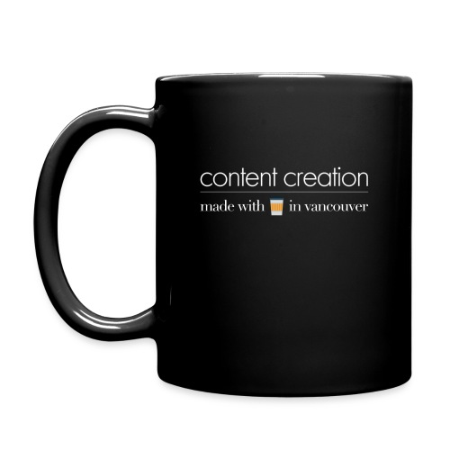 content creation black - Full Color Mug