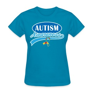 Autism Awareness Puzzle Ribbon Women's T-Shirts - Women's T-Shirt