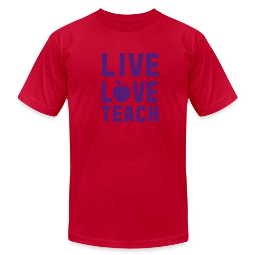 Live Love Teach - Men's Fine Jersey T-Shirt