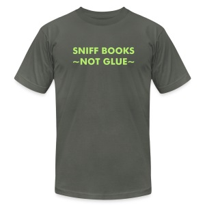Sniff Books - Lt Green on Asphalt - Men's Fine Jersey T-Shirt