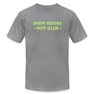 Sniff Books - Lt Green on Slate - Men's Fine Jersey T-Shirt