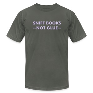 Sniff Books - Lavender on Asphalt - Men's Fine Jersey T-Shirt