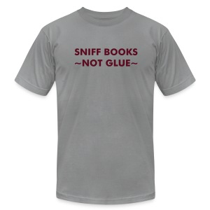 Sniff Books - Maroon on Slate - Men's Fine Jersey T-Shirt