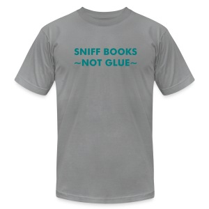 Sniff Books - Teal on Slate - Men's Fine Jersey T-Shirt