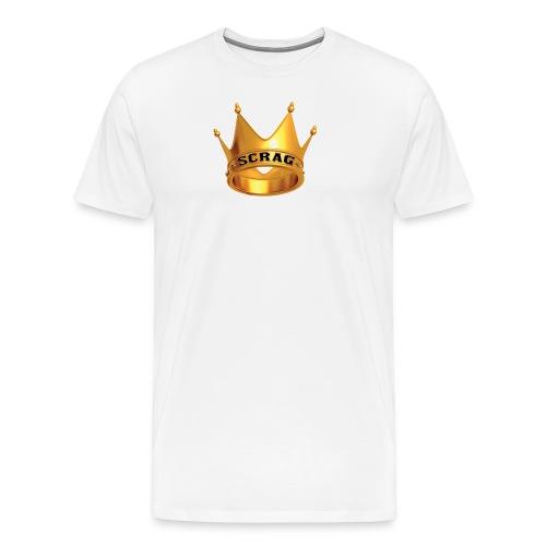 White Tee Scrag - Men's Premium T-Shirt