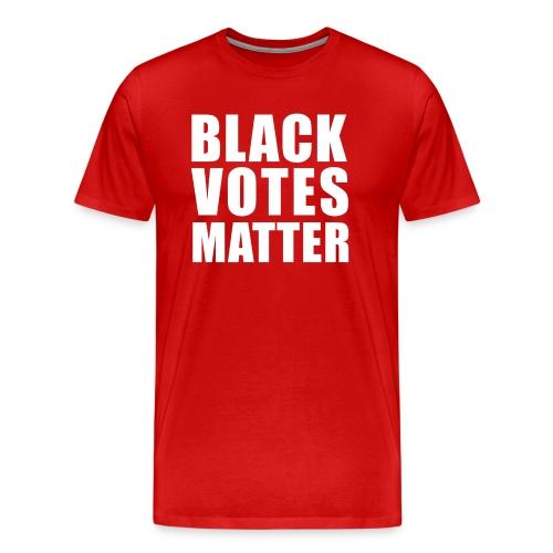 Black Votes Matter - Men's Red Tee | Front Design Only - Men's Premium T-Shirt