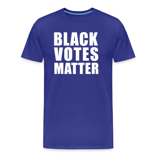 Black Votes Matter - Men's Royal Blue Tee | Front Design Only - Men's Premium T-Shirt