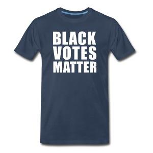 Black Votes Matter - Men's Navy Blue Tee   Front Design Only - Men's Premium T-Shirt