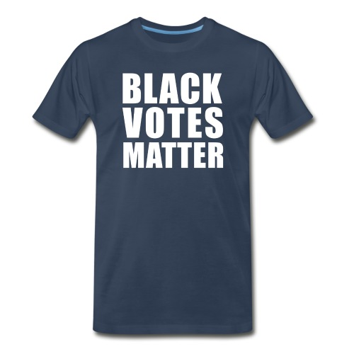 Black Votes Matter - Men's Navy Blue Tee | Front Design Only - Men's Premium T-Shirt