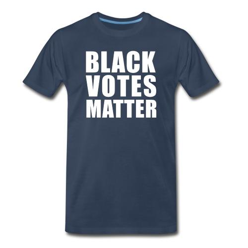 Black Votes Matter - Men's Navy Blue Tee | Front Design Only - Men's Premium T-Shirt