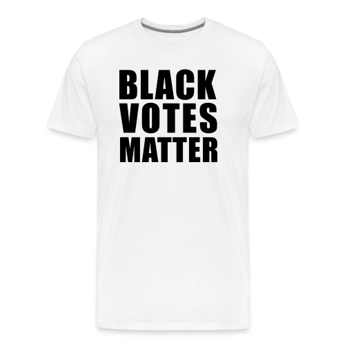 Black Votes Matter - Men's White Tee | Front Design Only - Men's Premium T-Shirt