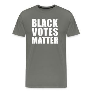 Black Votes Matter - Men's Asphalt Tee   Front Design Only - Men's Premium T-Shirt