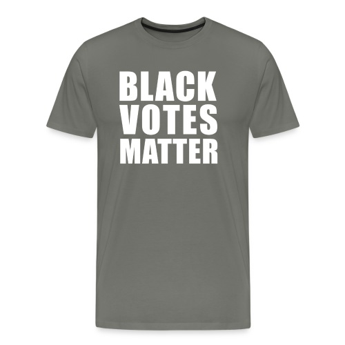 Black Votes Matter - Men's Asphalt Tee | Front Design Only - Men's Premium T-Shirt