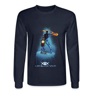 I AM Black Sci-Fi : Eclipx long sleeve - Men's Long Sleeve T-Shirt