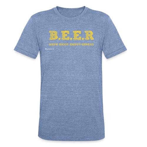 BEER Brew Enjoy Empty Repeat Unisex Tri-Blend T-Shirt - Unisex Tri-Blend T-Shirt