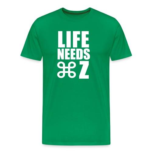 Life Needs Undo - Kelly Green Tee - Mac Attack - Men's Premium T-Shirt