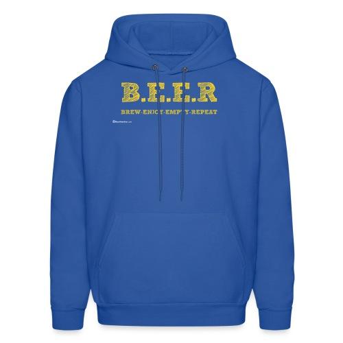 BEER Brew Enjoy Empty Repeat Men's Hoodie - Men's Hoodie