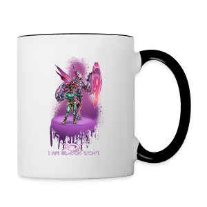 I AM Black Sci-Fi : Lady-Bug MUG - Contrast Coffee Mug