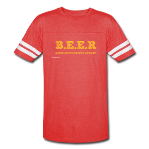 BEER Brew Enjoy Empty Repeat Men's Vintage Sport T-Shirt - Vintage Sport T-Shirt