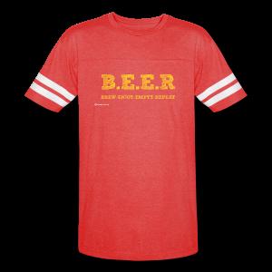 BEER Brew Enjoy Empty Repeat Men's Vintage Sport T-Shirt - Vintage Sport T-Shirt