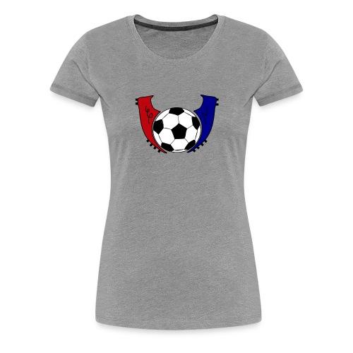 I Live Futbol Logo Women's Premium T-Shirt - Women's Premium T-Shirt