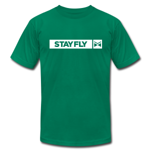 Stay Fly 1 Color - Men's T-Shirt by American Apparel