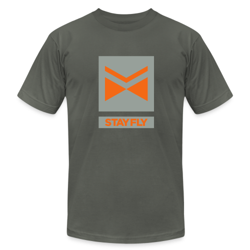 Stay Fly 2 Color - Men's T-Shirt by American Apparel