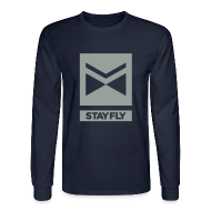 Long Sleeve Shirts ~ Men's Long Sleeve T-Shirt ~ Stay Fly 1 Color LONG sleeve