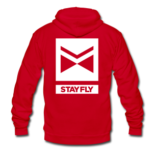 Stay Fly AA Fleece Hoodie - triple print with XS - Unisex Fleece Zip Hoodie by American Apparel