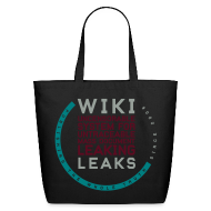Bags & backpacks ~ Eco-Friendly Cotton Tote ~ WikiLeaks Supporter (incl $24.70 donation)