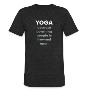 Yoga Cultivating Love - Unisex Tri-Blend T-Shirt by American Apparel