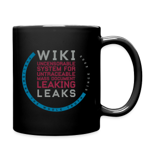 WikiLeaks Supporter (incl $25.50 donation) - Full Color Mug