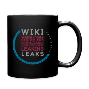 WikiLeaks Supporter (incl $25.10 donation) - Full Color Mug