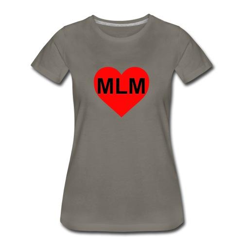 womens heart mlm - Women's Premium T-Shirt