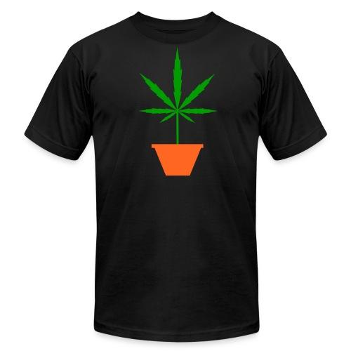 Pot in pot black Men's T-Shirt by American Apparel - Men's  Jersey T-Shirt