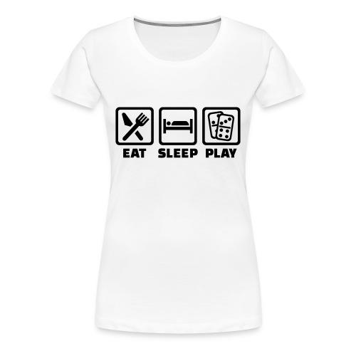 Eat Sleep Play - Women's Premium T-Shirt