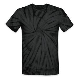 TIE DYE T SHIRT GRAY AND BLACK - Unisex Tie Dye T-Shirt