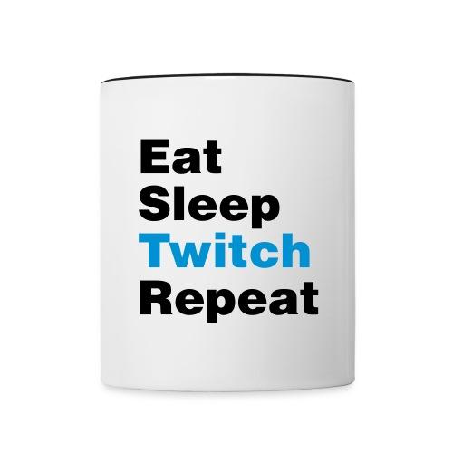 Eat,Sleep,Twitch,Repeat Mug - Contrast Coffee Mug
