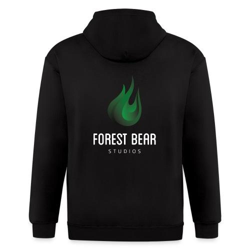 Forest Bear Logo Zipped Hoodie - Men's Zip Hoodie