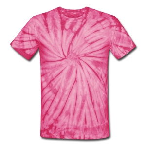 TIE DYE T SHIRT ,PINK - Unisex Tie Dye T-Shirt