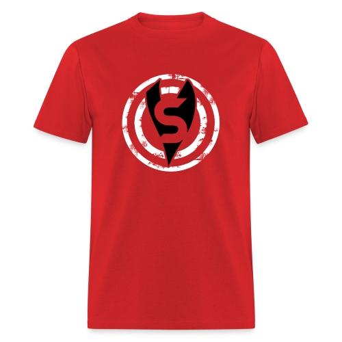 Unisex Bullseye Black on White - No Name - Men's T-Shirt