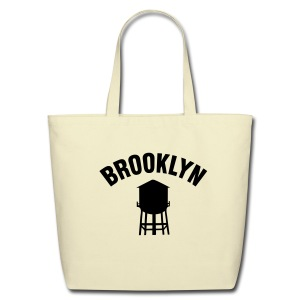 Brooklyn Watertower Tote Bag - Eco-Friendly Cotton Tote