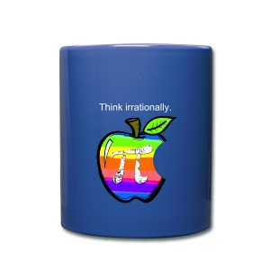 Pi Day: Think Irrationally Mug - Full Color Mug