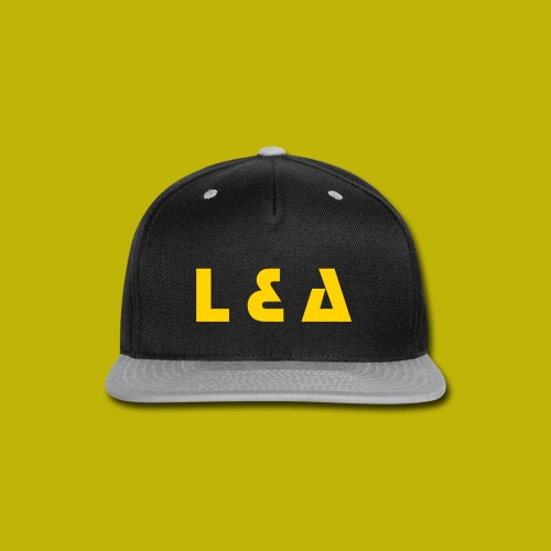 L & A Golden Letters Hat - Snap-back Baseball Cap
